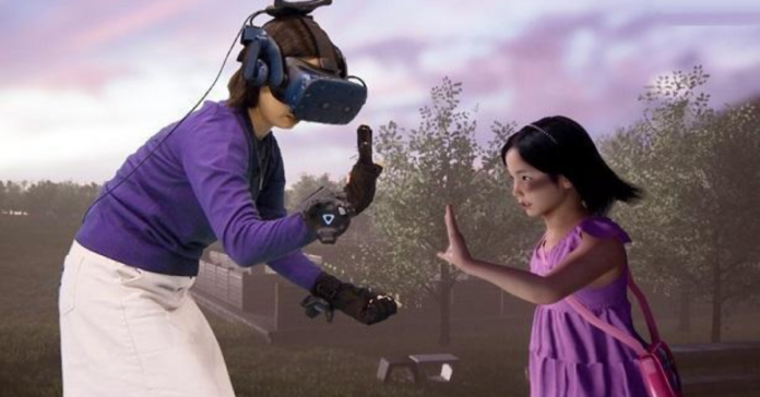 virtual-reality-a-girl--talk-to-her-mother